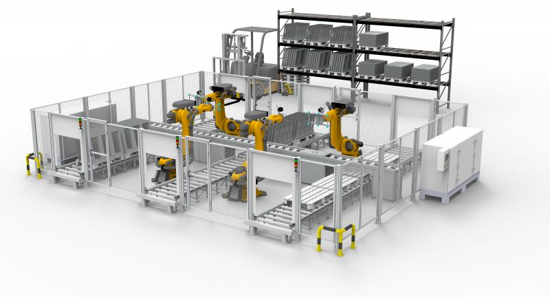 robotic, arm, factory, interior, industrial arm, building, 3d, home, architecture, construction, design, business, plan, isolated, project, white, illustration, technology, computer, blueprint, structure, future, automation, automated, robotics, 3d rendering, 3d illustration, 3d concept
