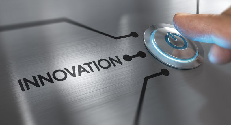 innovation, innovative, concept, innovate, solution, new, technology, technological, electronic, computing, tech, startup, high tech, advice, advisor, consulting, consultant, idea, concept, solution, creative, invention, creativity, conceptual, business, word, finger, button, press, push, metal, background, horizontal, header
